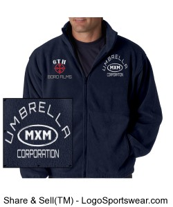 MXM Fleece Full-Zip Jacket Design Zoom